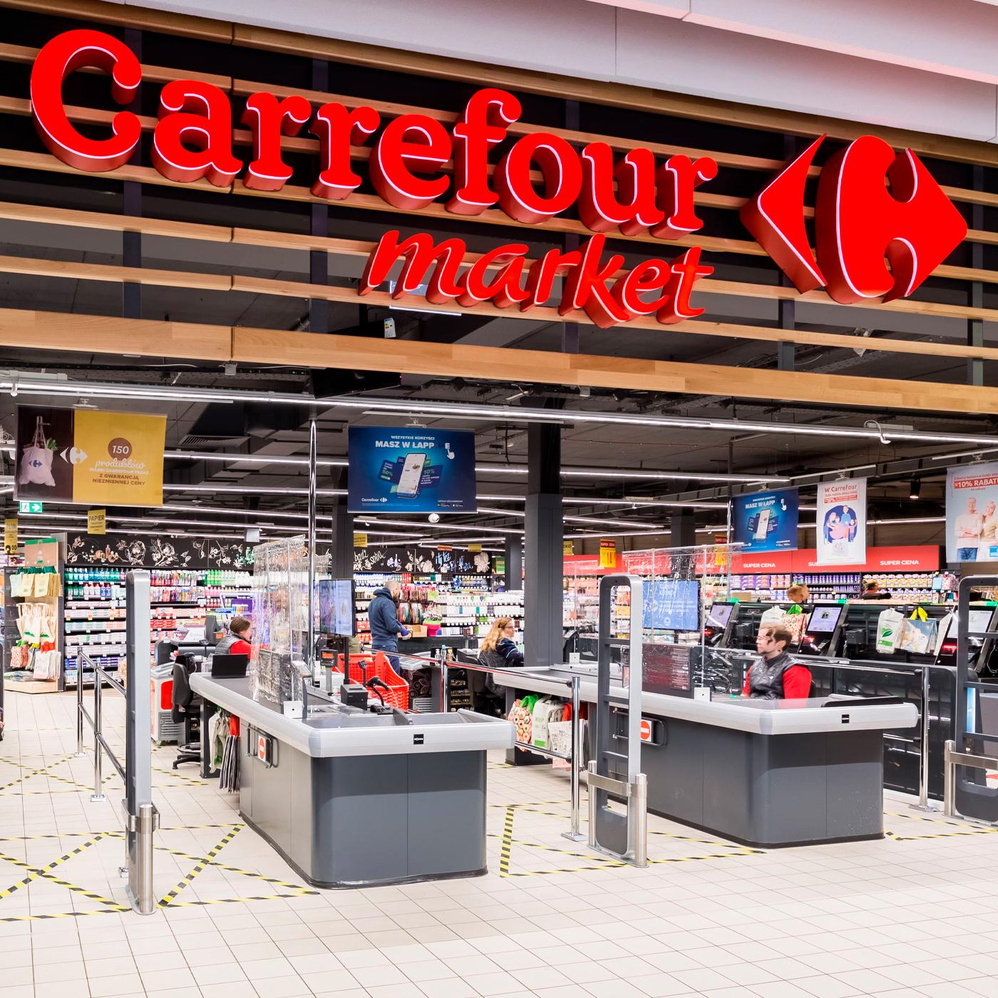 Kassadisker Carrefour Poznan
