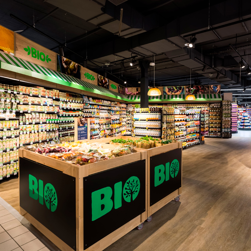 Butikkredning for økologisk mat Carrefour Market