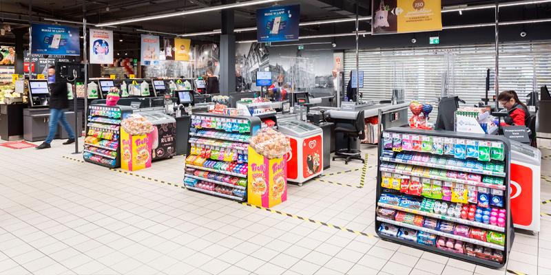 Kasseområde Carrefour Poznan