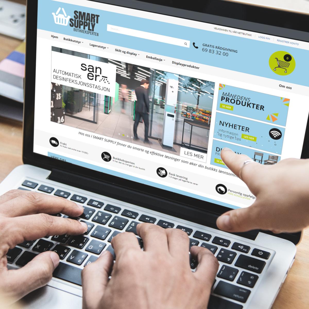 Nettbutikk skjermbilde