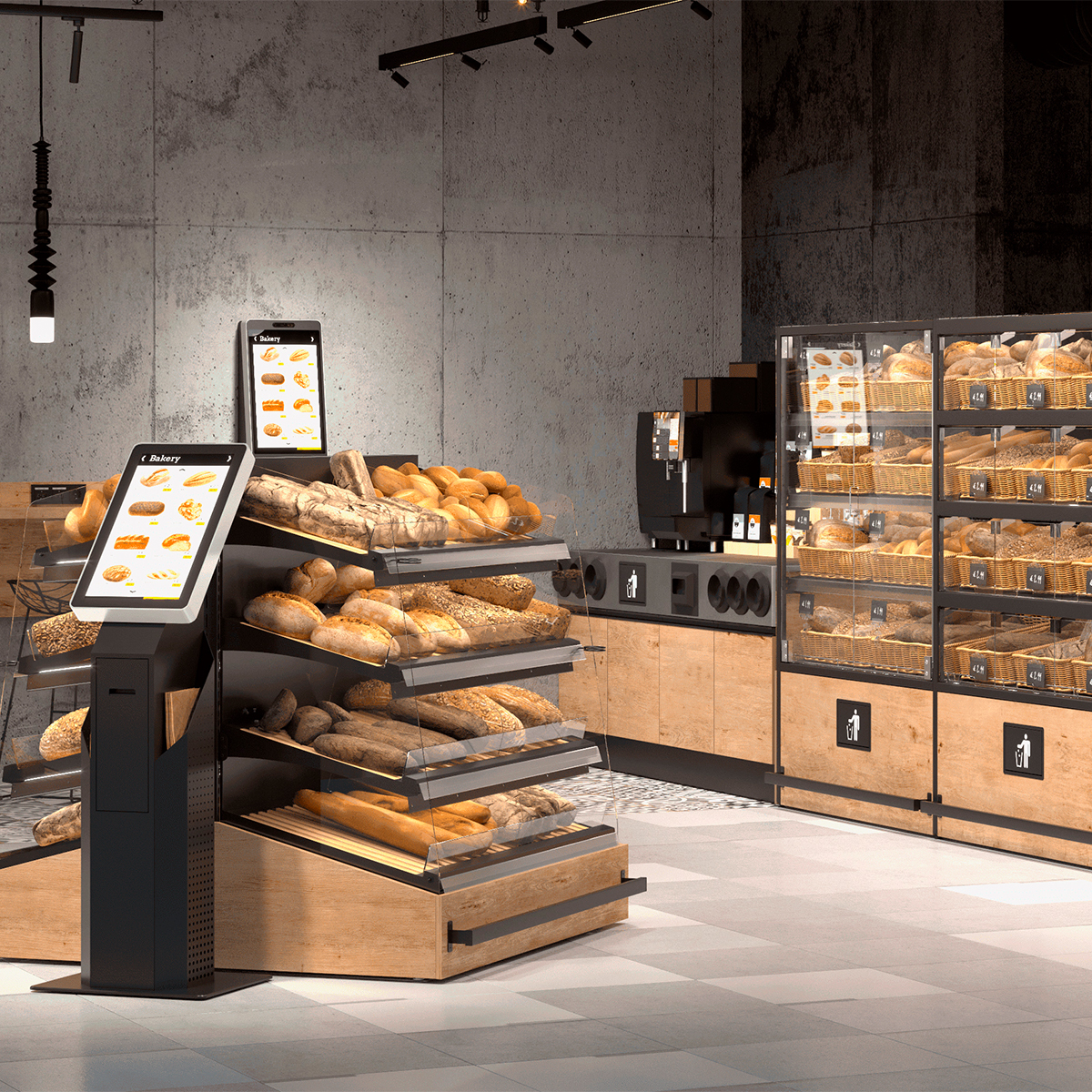 Butikkinnredning bakeri og bakeoff