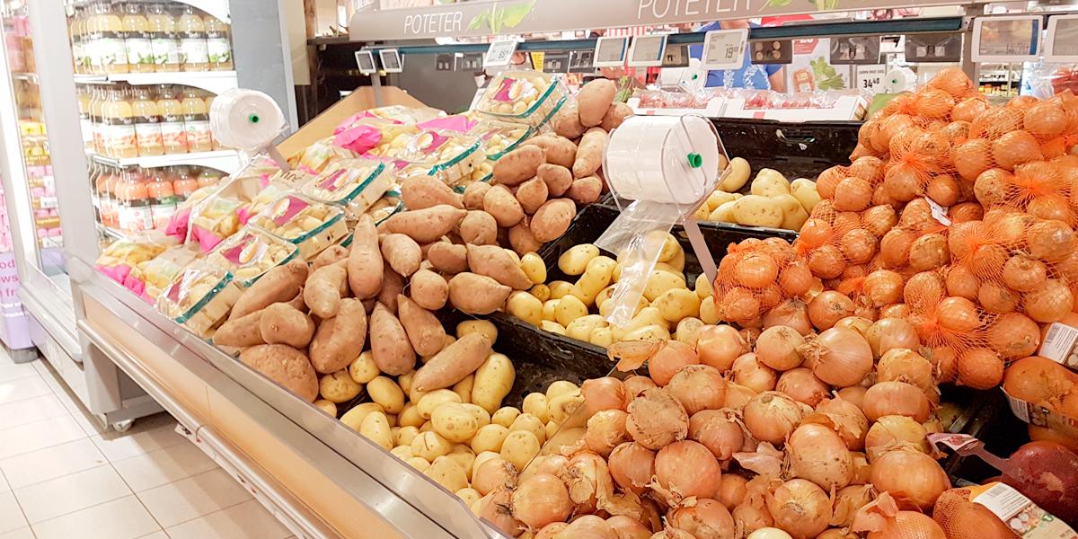 Posedispenser løsvekt poteter